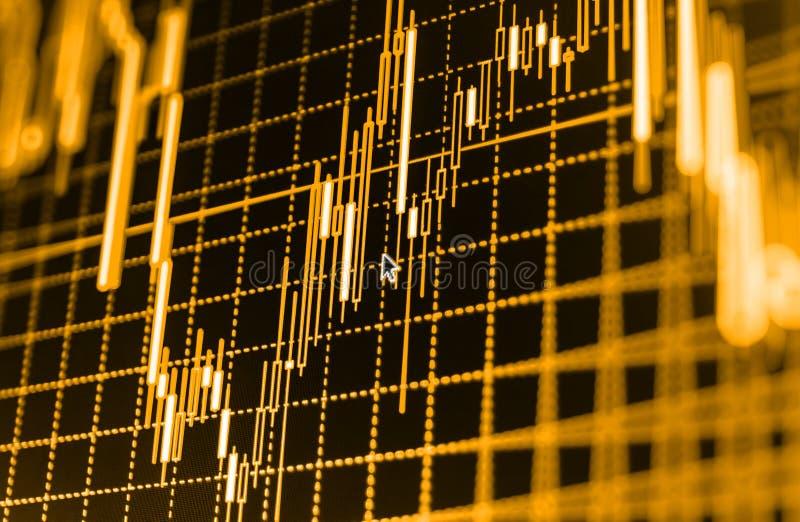 Aktiemarknaden citerar grafen royaltyfri fotografi