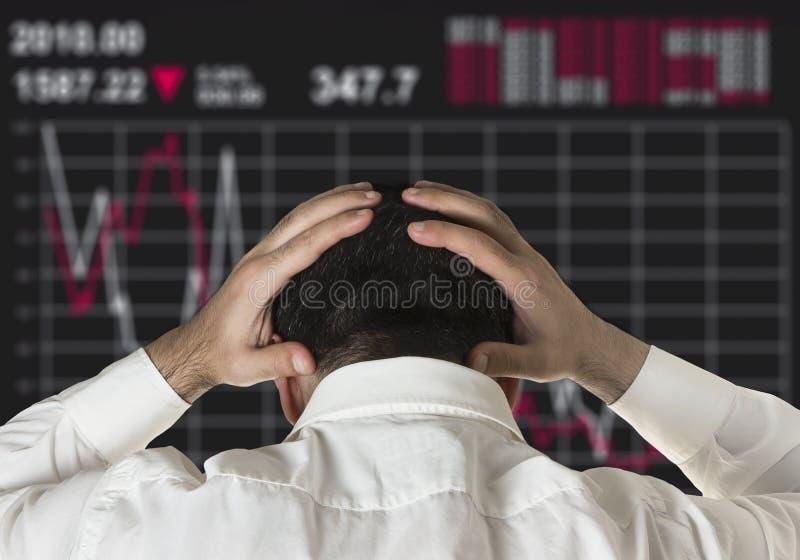 Aktiemarknadkrasch arkivfoton