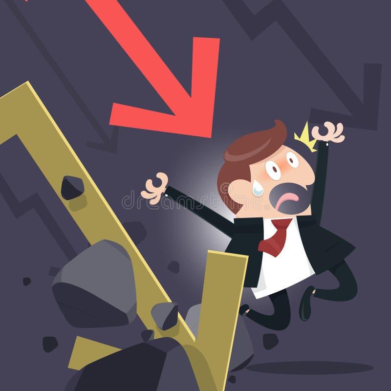 Aktienedgång stock illustrationer
