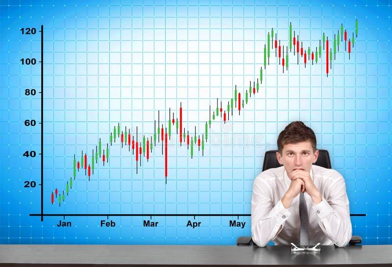 Aktienkurve auf Schirm vektor abbildung
