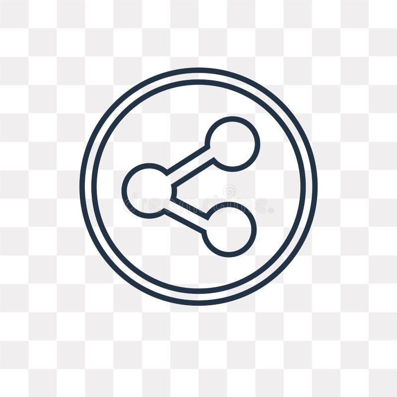 Aktievektorsymbol som isoleras på genomskinlig bakgrund, linjära Sha stock illustrationer