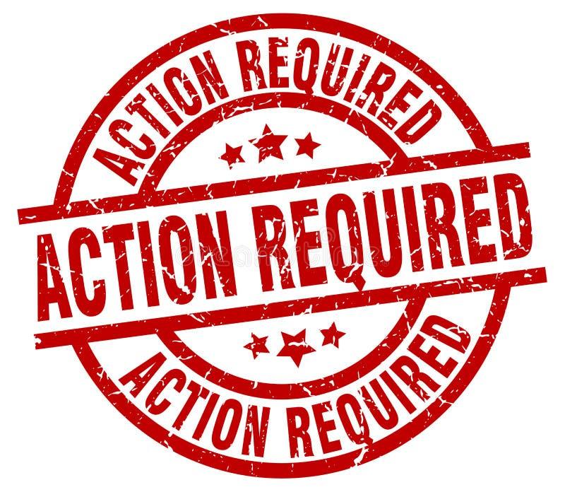 Aktion erforderlicher Stempel lizenzfreie abbildung