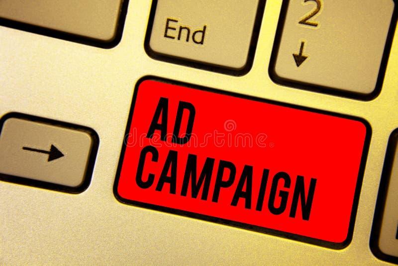 Aktion för annons för handskrifttexthandstil Menande befordran för begrepp av den specifika produkten eller service till och med  royaltyfri illustrationer
