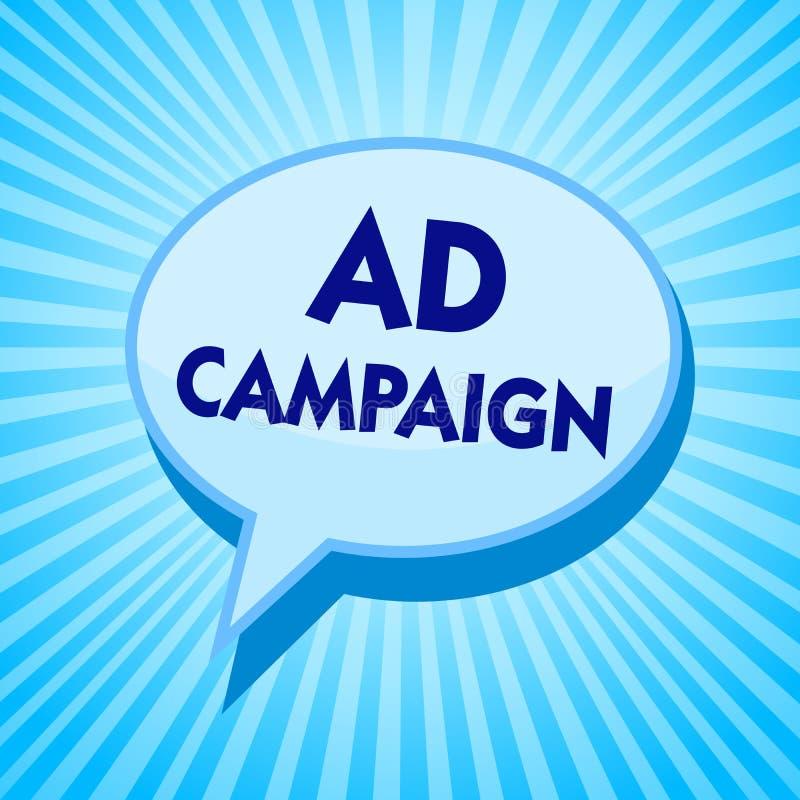 Aktion för annons för ordhandstiltext Affärsidé för befordran av den specifika produkten eller service till och med bubbla M för  royaltyfri illustrationer