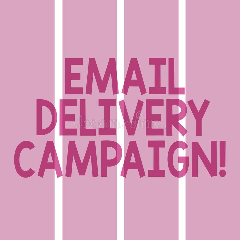 Aktion för leverans för Email för textteckenvisning Begreppsmässigt foto som överför ett kommersiellt meddelande till en grupp av stock illustrationer
