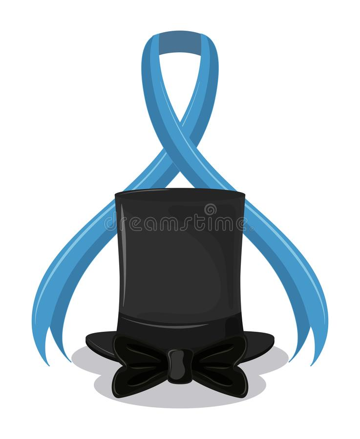 Aktion för prostatacancer stock illustrationer