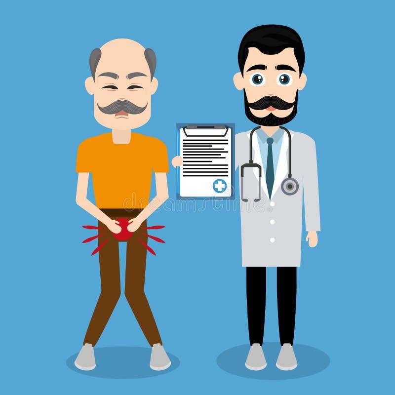 Aktion för prostatacancer vektor illustrationer