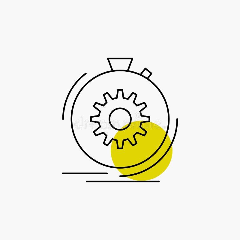 Aktion, schnell, Leistung, Prozess, Geschwindigkeit Linie Ikone vektor abbildung
