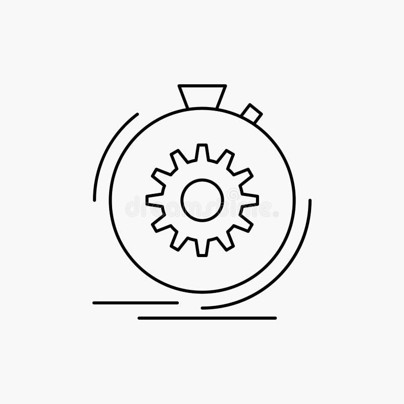 Aktion, schnell, Leistung, Prozess, Geschwindigkeit Linie Ikone Vektor lokalisierte Illustration vektor abbildung