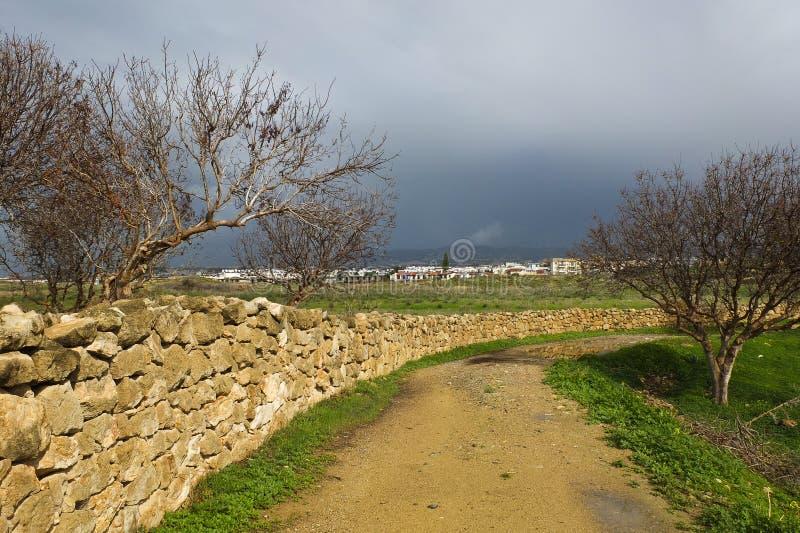 Aktioner runt om staden av paphos på en Januari dag royaltyfri bild