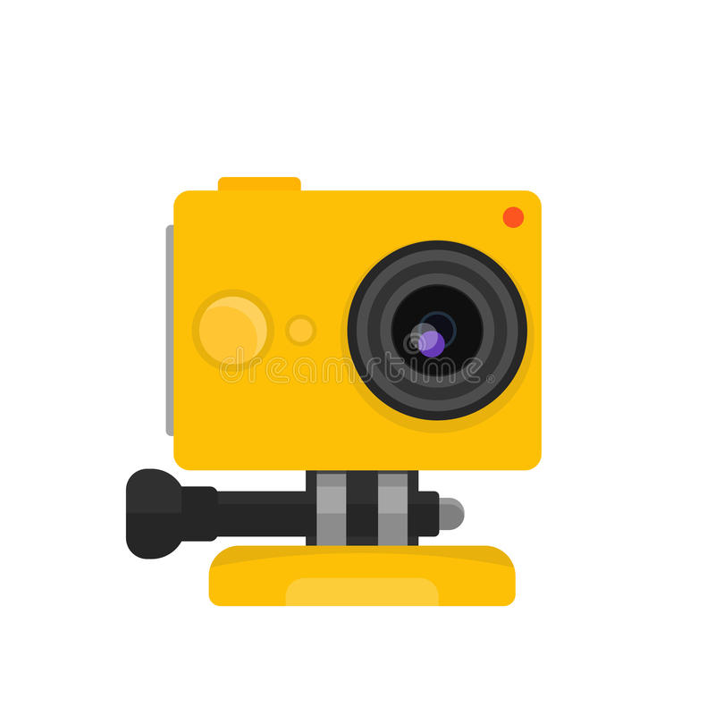 Aktionskamera-Vektorillustration stock abbildung