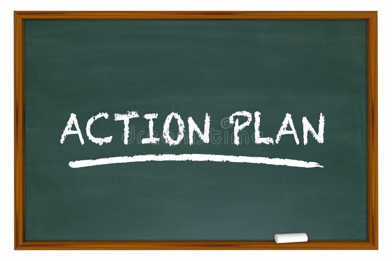 Aktionsplan-Strategie-Taktik-Tafel vektor abbildung