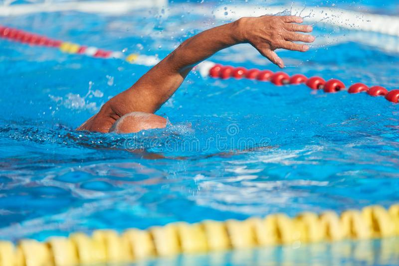Aktiv hög simning royaltyfri fotografi