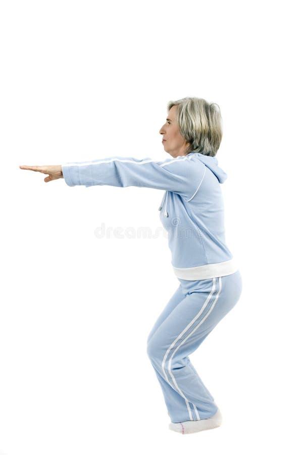 aktiv mogen sportswoman royaltyfri bild