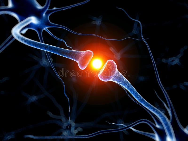 Aktiv neurone stock illustrationer