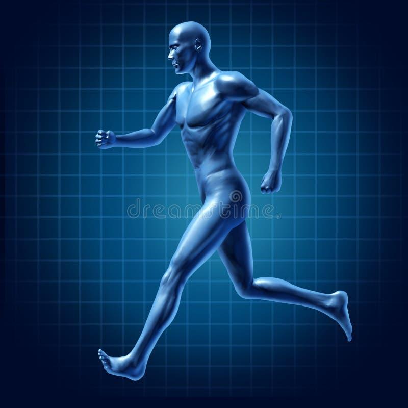 aktiv running för löpare för medica för diagramenergiman vektor illustrationer