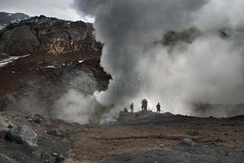 aktiv vulkan royaltyfri foto