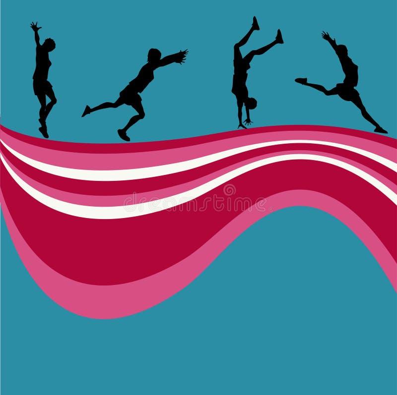 aktiva bakgrundskvinnor vektor illustrationer