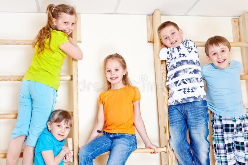 aktiva barn royaltyfria foton