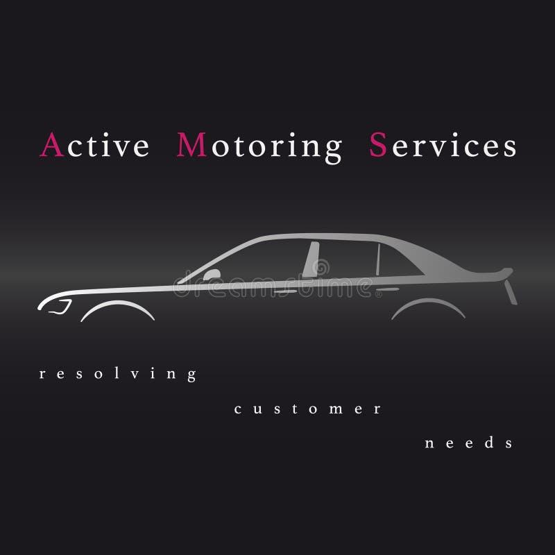 Aktive fahrende Dienstleistungen lizenzfreie abbildung