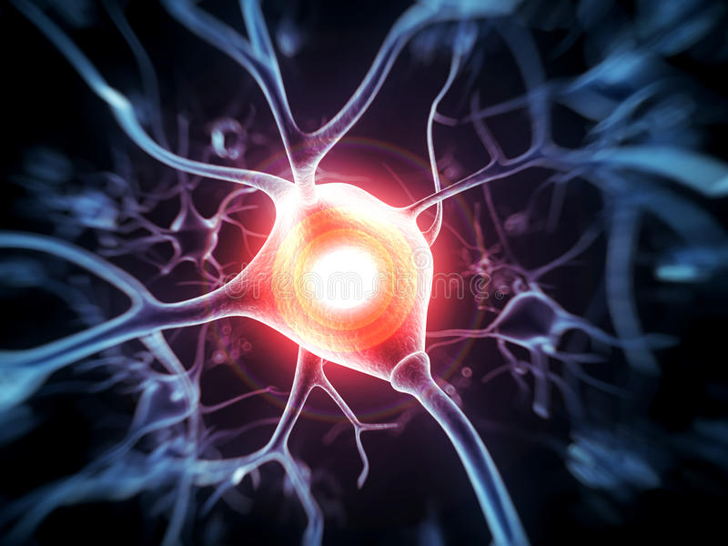 Aktive Nervenzellen vektor abbildung