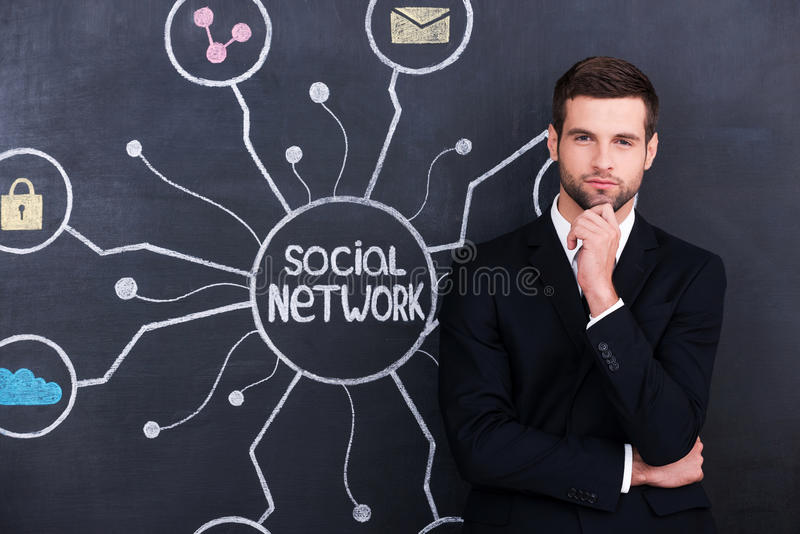Aktive sozialperson sein lizenzfreies stockbild