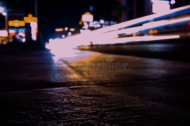 Aktive Stadtstraßen von Vegas lizenzfreie stockfotografie