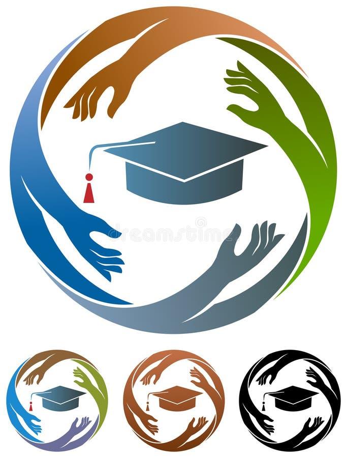 Aktive Studenten lizenzfreie abbildung