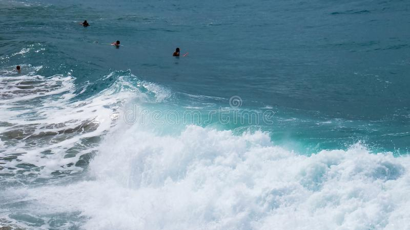 Aktiver Tag an einem dominikanischen Strand stockbild