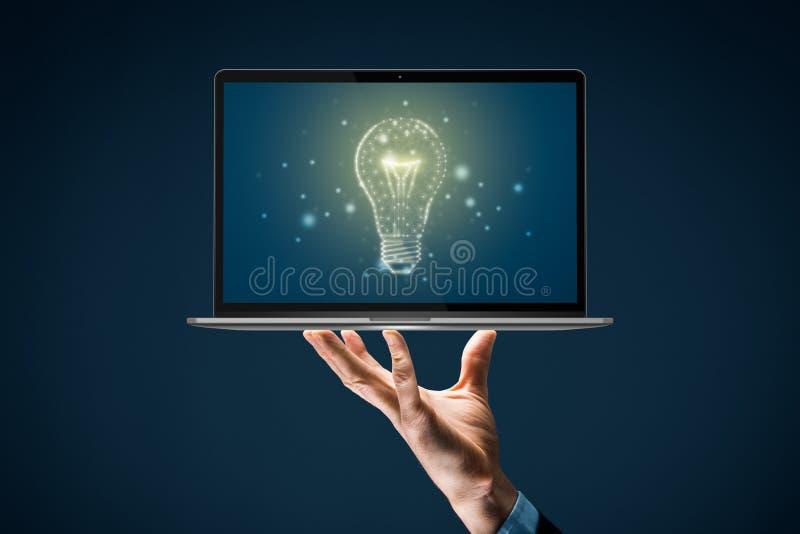 Aktivera begreppen kreativitet, idé och intelligens royaltyfria foton