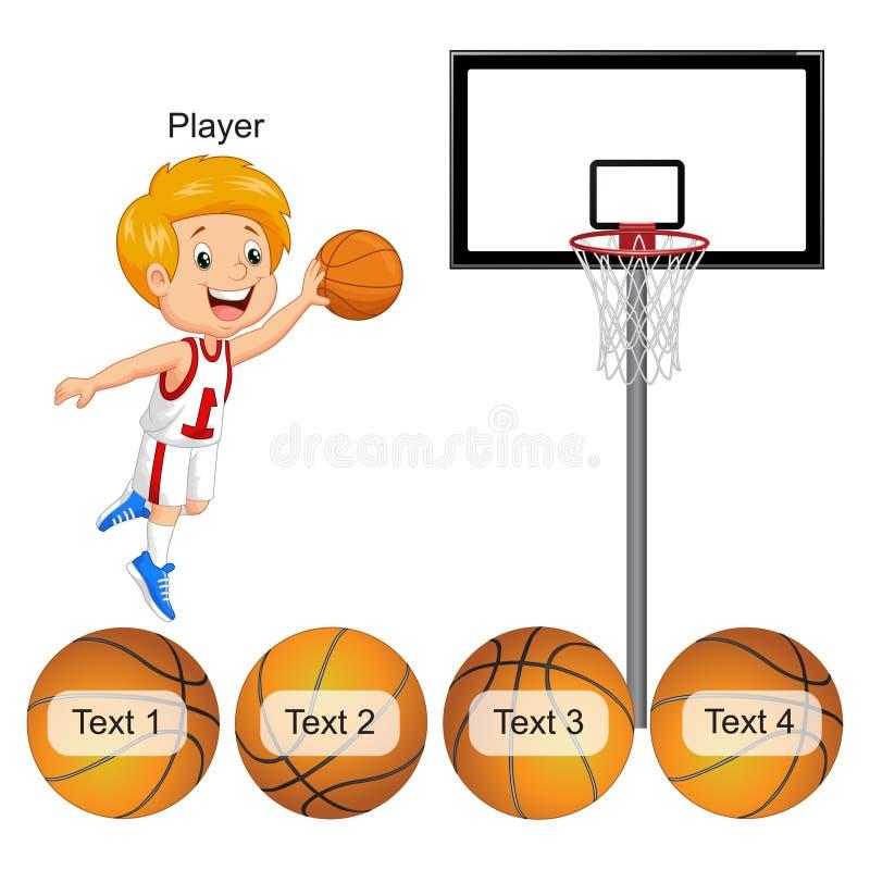 Aktivitet - matcha för basket och för boll royaltyfri illustrationer