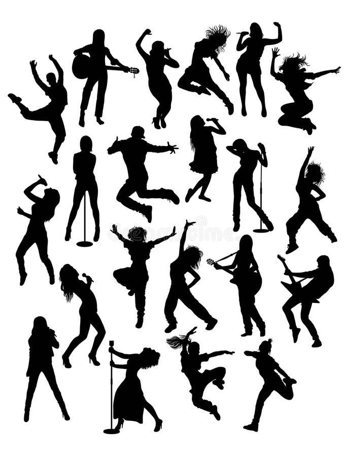 Aktivitetsfolk, sångare, gitarrist och Hip Hop royaltyfri illustrationer