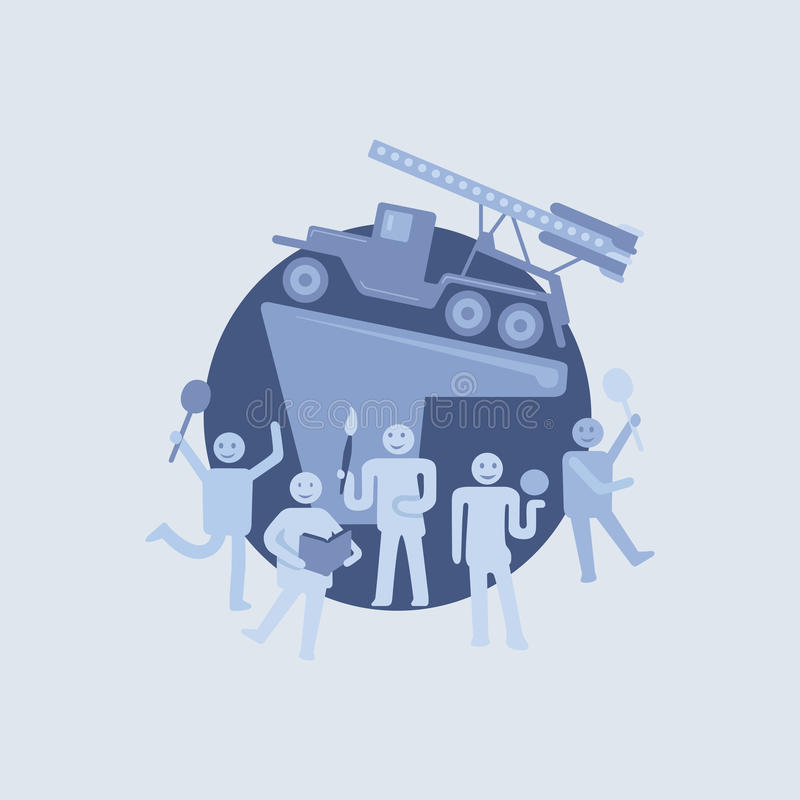 Aktivt folk vektor illustrationer