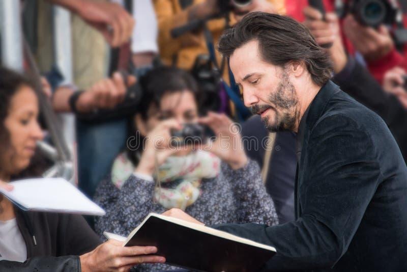 Aktor Keanu Reeves uczęszcza puknięcia puknięcia premiera podczas 41st Deauville Amerykańskiego Ekranowego festiwalu obrazy stock
