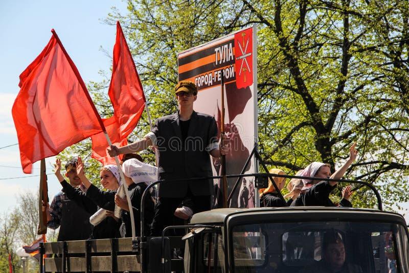 Aktor z czerwoną flagą fotografia royalty free