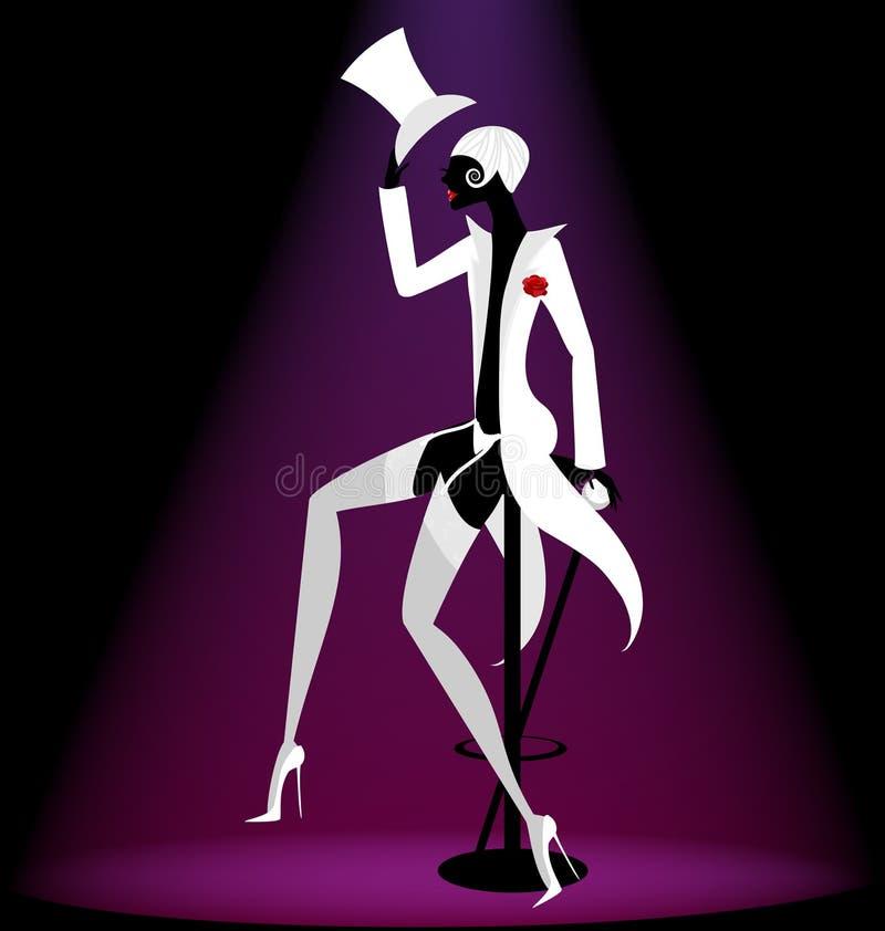 aktora kabaret royalty ilustracja