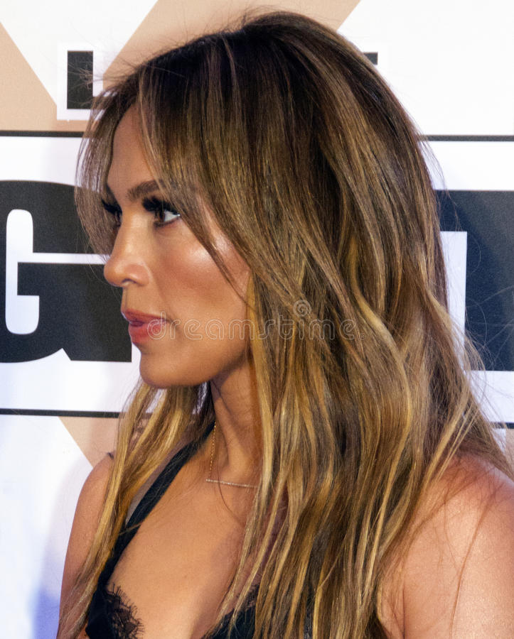 Aktora piosenkarz Jennifer Lopez zdjęcie royalty free