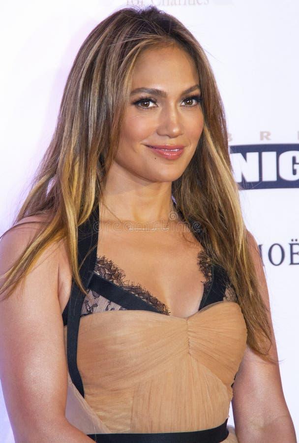 Aktora piosenkarz Jennifer Lopez obraz royalty free