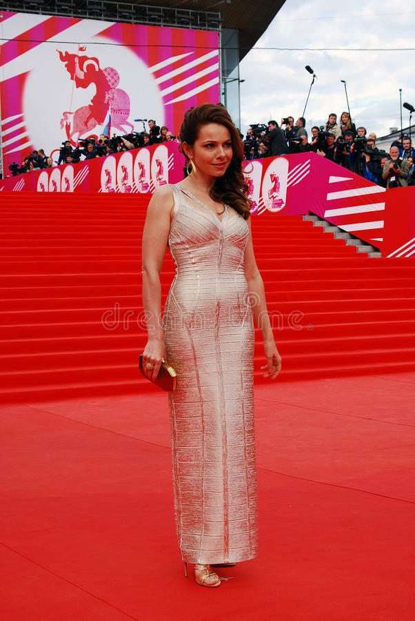 Aktorka Ekaterina Guseva przy Moskwa Międzynarodowym Ekranowym festiwalem XXXVI obrazy royalty free