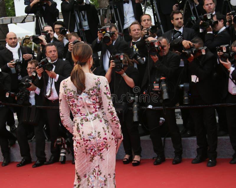Aktorka Elsa Zylberstein uczęszcza ` pieniądze potwora ` zdjęcia stock