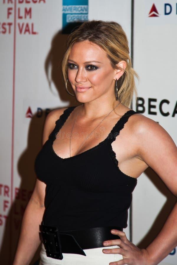 Aktorka Hilary Duff zdjęcia stock