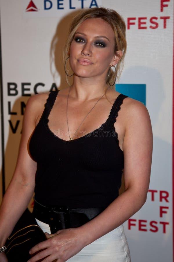 Aktorka Hilary Duff fotografia stock