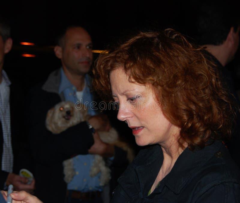 aktorki autografów sławny sarandon podpisywanie Susan zdjęcia stock