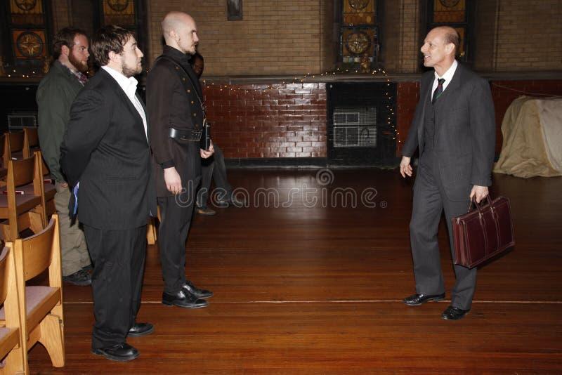 Aktorzy bawić się Szekspir zdjęcia royalty free