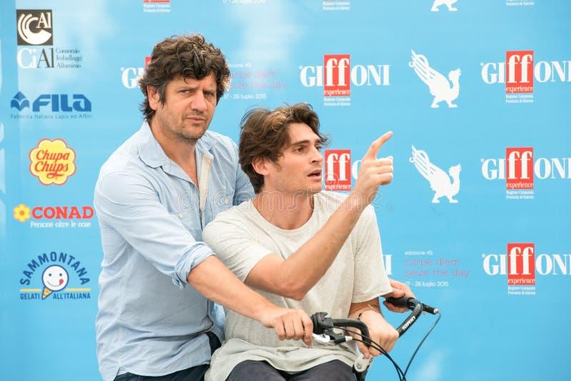Aktorzy Fabio De Luigi i Angelo Duro fotografia royalty free