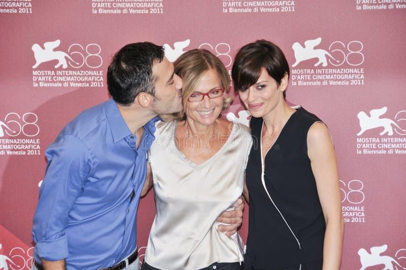 Aktorzy Filippo Timi, Cristina Comencini i Claudia Pandolfi, obrazy stock