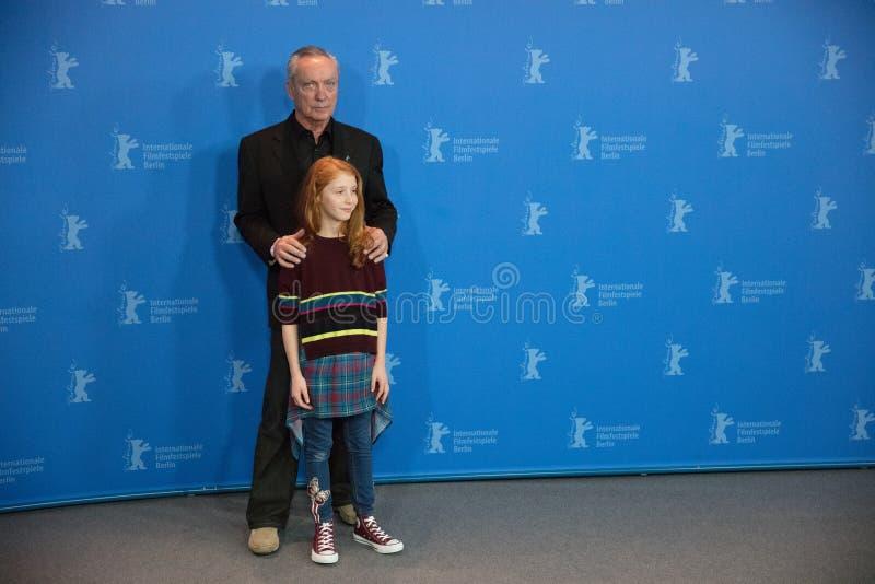 Aktorzy Udo Kier Casu i Sara zdjęcia stock