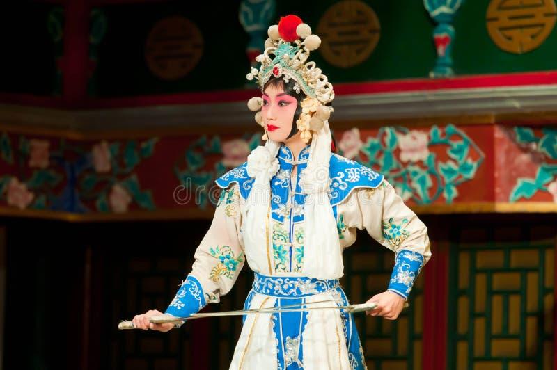 Aktris av den Beijing operaskådespelartruppen royaltyfria foton