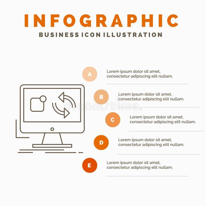 Aktualisierung, App, Anwendung, installieren, Synchronisierung Infographics-Schablone für Website und Darstellung r stock abbildung