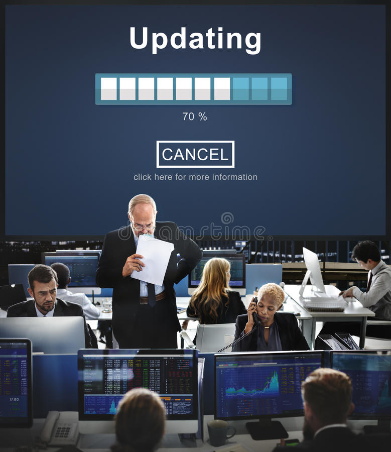 Aktualisierung des Software-Technologie-Verbesserungs-Konzeptes stockbild